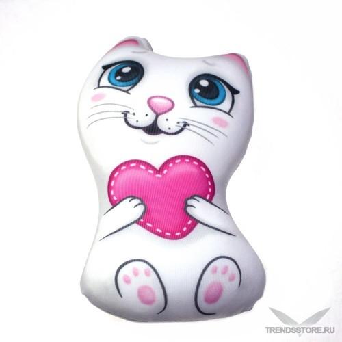 Кошечка с сердечком мягкая игрушка