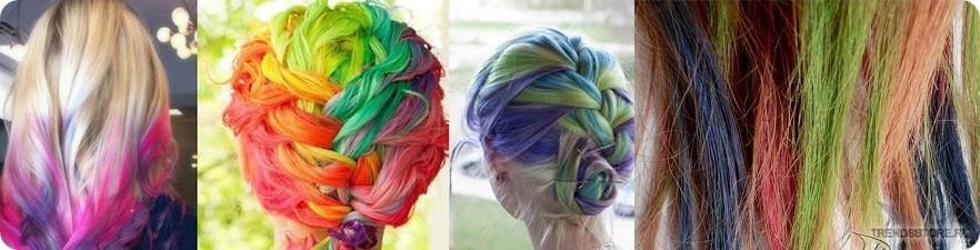 Пастельные мелки для волос фото